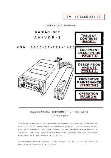 RADIAC SET AN/UDR-13