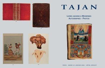 Tajan - Livres anciens et modernes - Vente le 24 janvier 2006