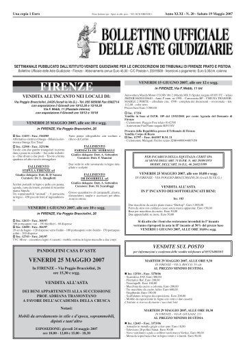 FIRENZE - ISVEG Istituto Vendite Giudiziarie