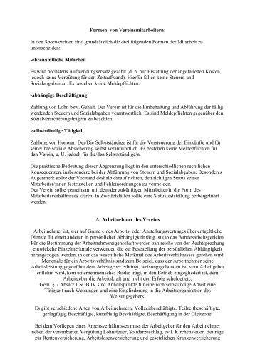 Formen von Vereinsmitarbeitern - Deutscher Tanzsportverband eV