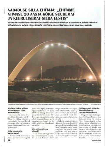 Vabaduse silla ehitaja - Tartu