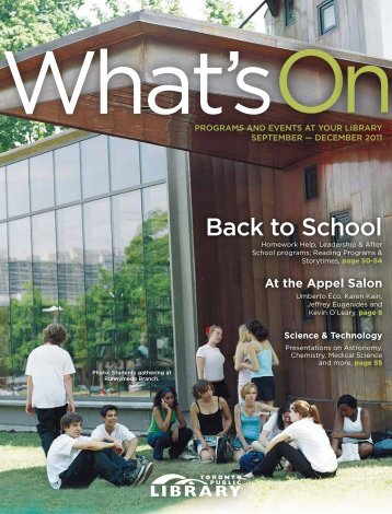 What's On, September - Toronto Public Library