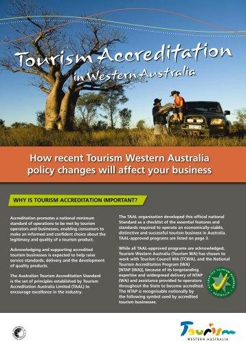 Tourism Accreditation in Western Australia [pdf ] 431 KB