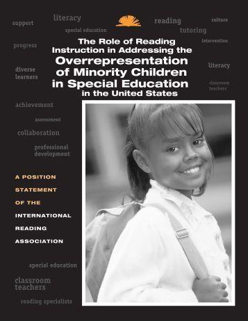 Overrepresentation of Minority Children in Special Education