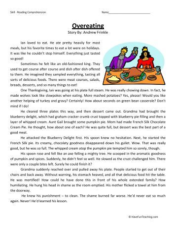 7th grade reading comprehension practice worksheets
