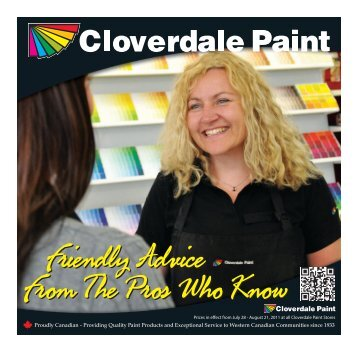 Providing Quality Paint Products and Exceptional ... - Cloverdale Paint