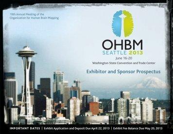 Exhibitor and Sponsor Prospectus - Organization for Human Brain ...