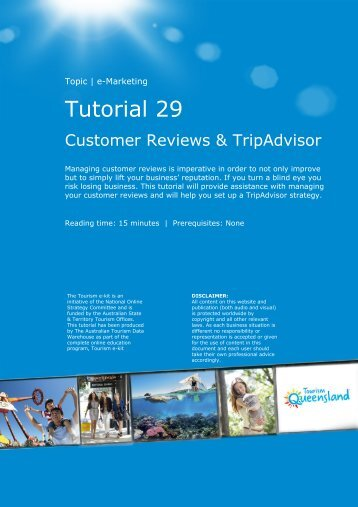 Tutorial 29 - Customer Reviews and TripAdvisor - V6