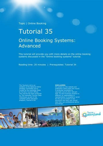 Tutorial 35 - Tourism Queensland