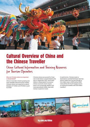 Cultural Overview of China and the Chinese Traveller - Tourism ...