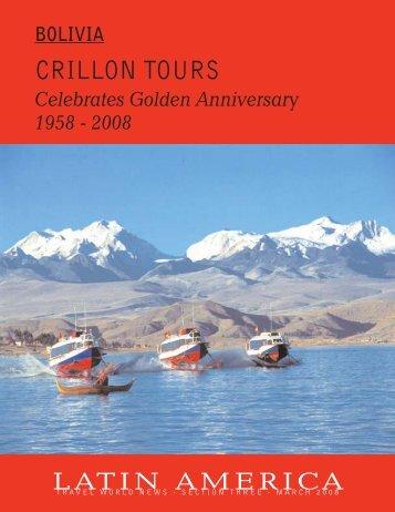 Bolivia, Crillon Tours - Travel World News