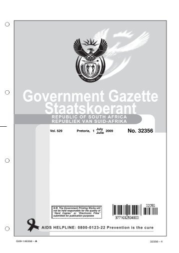 Government Gazette Staatskoerant - National Treasury