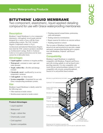 Bituthene Liquid Membrane - Grace Construction Products
