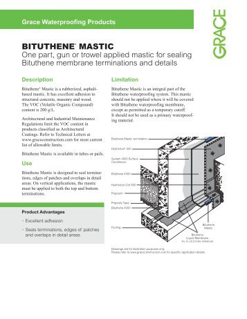 BITUTHENE® MASTIC - Grace Construction Products