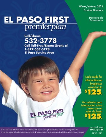 Table of Contents - El Paso First Health Plans, inc.
