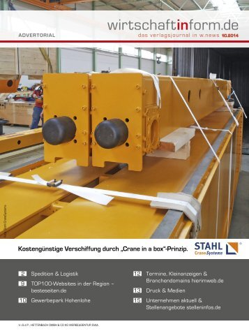 Spedition & Logistik | wirtschaftinform.de 10.2014