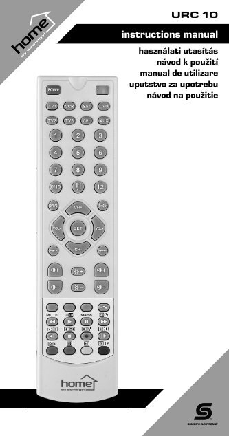 Manual for one for all remote codes