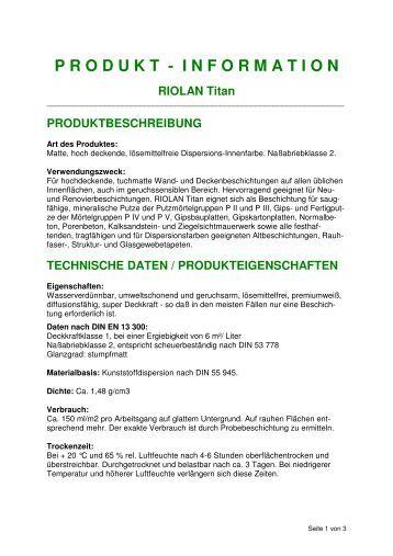 TI Riolan Titan - Farben Brunner