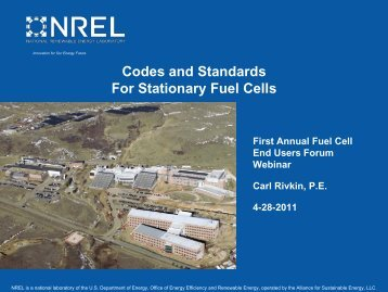 Codes and Standards for Stationary Fuel Cells - National Hydrogen ...
