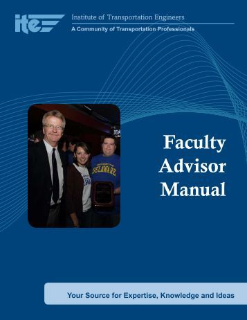 Student Chapter Advisor Manual - Institute of Transportation Engineers
