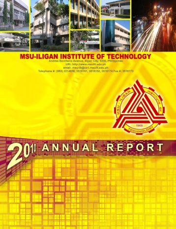 2010 Annual Report (PDF) - Iligan Institute of Technology