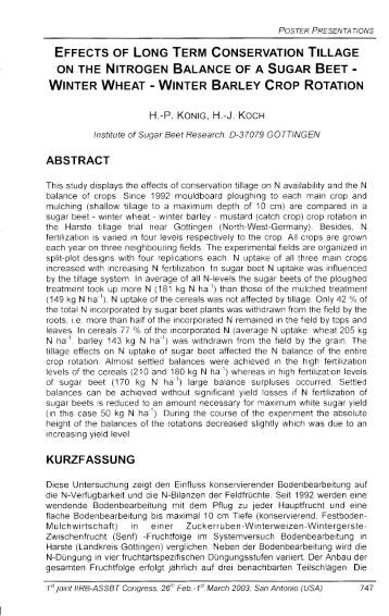 positive effects of conservation tillage essay Soil and tillage equipment c i equipment for effective soil and water conservation of comparative studies of soil tillage and no tillage effects on crop.
