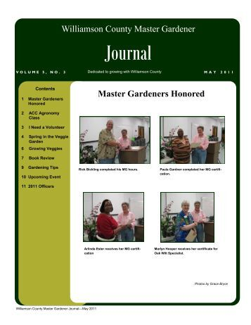 May 2011 Journal - Texas Master Gardeners Association