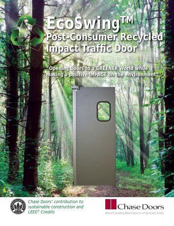 EcoSwing Post Consumer Recycled Door Flyer - Chase Doors