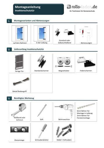 montageanleitung insektenschutz rollo f r fenster t ren kadeco. Black Bedroom Furniture Sets. Home Design Ideas