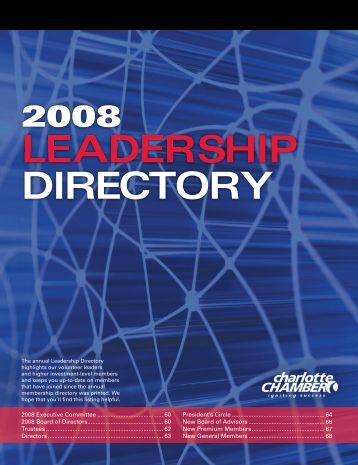 LEADERSHIP DIRECTORY - Charlotte Chamber of Commerce