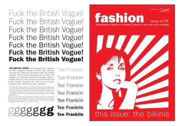 Fuck the British Vogue!