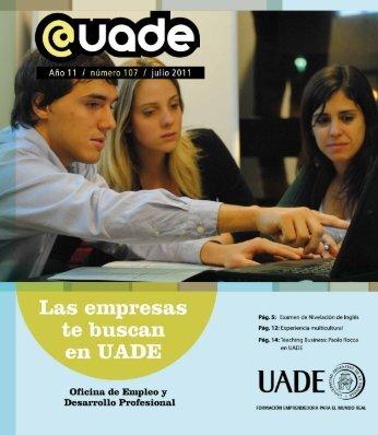 Las empresas te buscan en UADE - Universidad Argentina de la ...