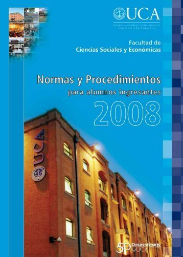 Normas y Procedimientos para Alumnos Ingresantes 2008