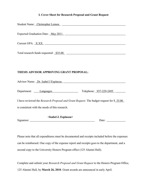Dissertation travel research grant