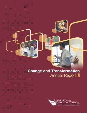 2010 UDC Annual Report - University of the District of Columbia