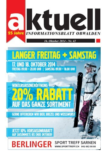Aktuell Obwalden 42-2014