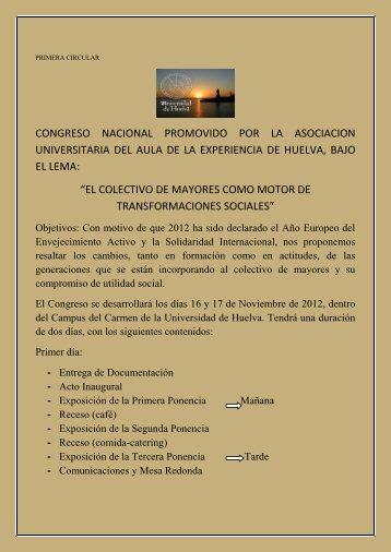 congreso nacional - Universidad de Huelva