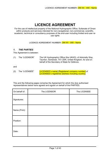 Photo License Agreement Template