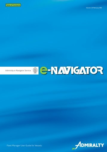 Fleet United Kingdom  City new picture : Navigator Fleet Manager Vessel User Guide v2 United Kingdom ...