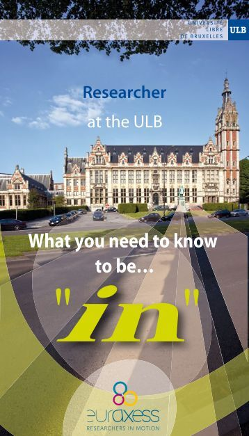 Researcher at the ULB. What you need to know to be…