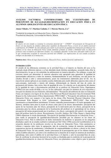 Cuestionario de Percepción de Igualdad-Discriminación