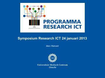 Het programma Research ICT - UMC Utrecht