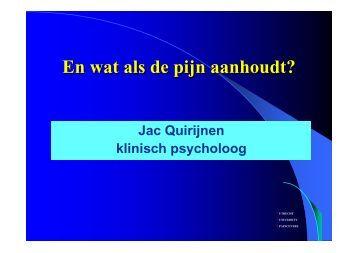 Leren omgaan met chronische pijn - UMC Utrecht