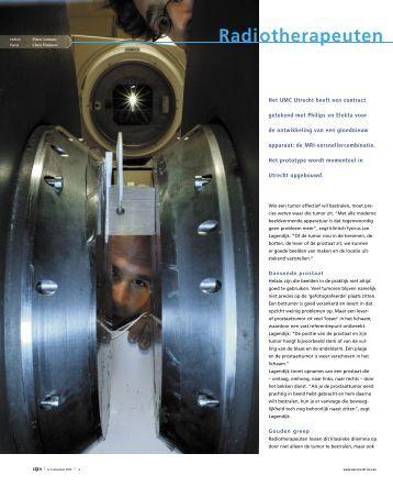 Radiotherapeuten krijgen magnetische bril - UMC Utrecht