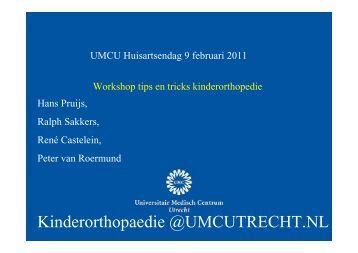Tips an tricks in de kinderorthopedie. - UMC Utrecht