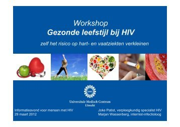 workshop gezonde leefstijl - UMC Utrecht
