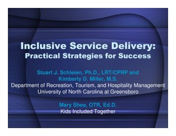 Inclusive Service Delivery: - The University of North Carolina at ...