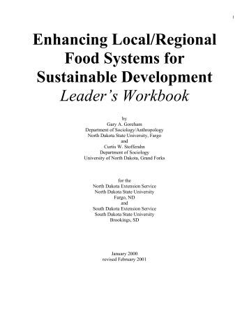 Enhancing Local/Regional Food Systems for Sustainable ...