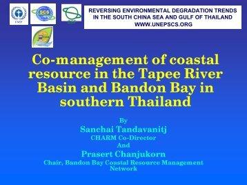Integrated coastal management plan