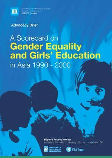 A Scorecard on gender equality and girls ... - unesdoc - Unesco